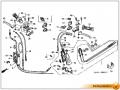 Honda Gyro Canopy. Трос привода заднего торм. механизма